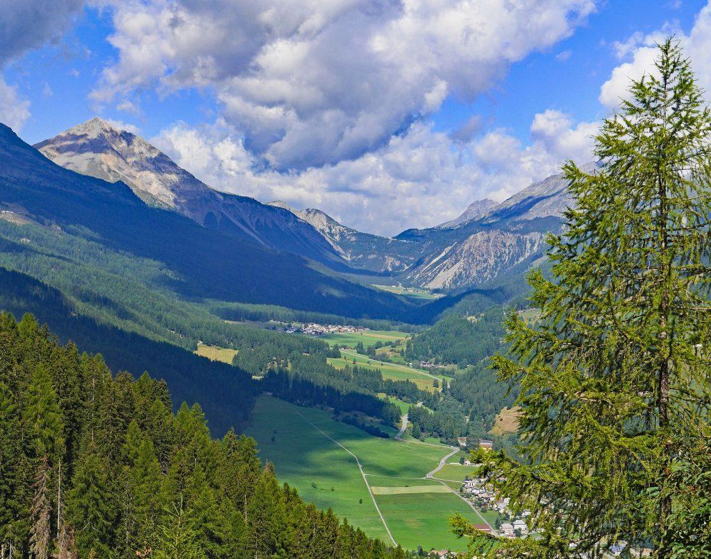 Landschaft Ofenpass Schweizer Alpen